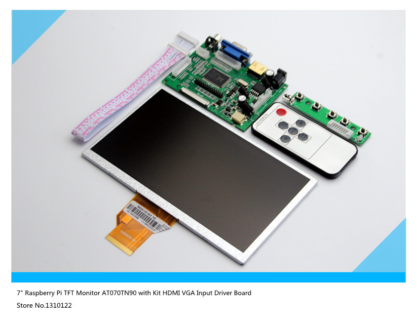 7 Raspberry Pi LCD Touch Screen AT070TN90 With Touchscreen Kit HDMI VGA Input Driver Board