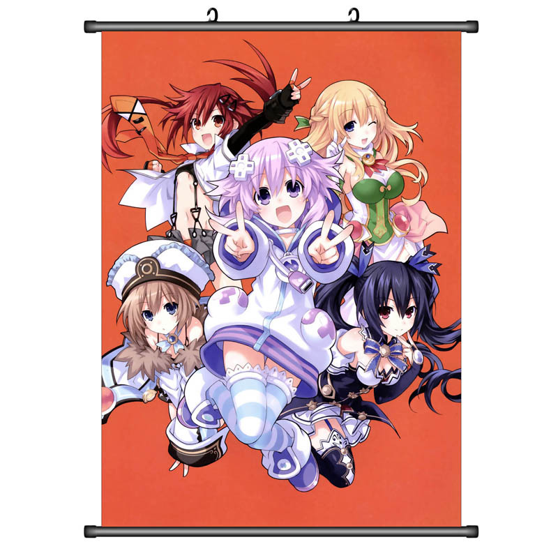 Hot Japan Anime Game Hyperdimension Neptunia Home Decor Wall Scroll  21*30CM 001