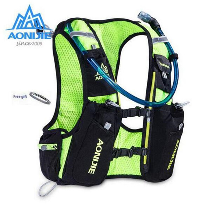 ФОТО AONIJIE Men Women 10L Bicycle Bag Outdoor Cycling Marathon Running With 2L Backpack Water Hydration Riding Water Bag