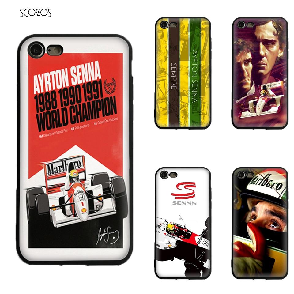 ayrton senna Silicone TPU phone case soft Cover For Iphone X 5 5S Se 6 6S 7 8 6 Plus 6S Plus 7 Plus 8 Plus #ia666