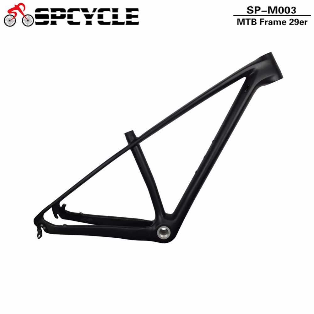 New Model 2018 T1000 Full Carbon MTB Bicycle Frames,29er Carbon Mountain Bike Frames 142*12mm&135*9mm Compatible BSA 68mm BB track frame fixed gear frame bsa carbon 1 1 2to 1 1 8 bike frameset with fork seatpost road carbon frames fixed gear frameset