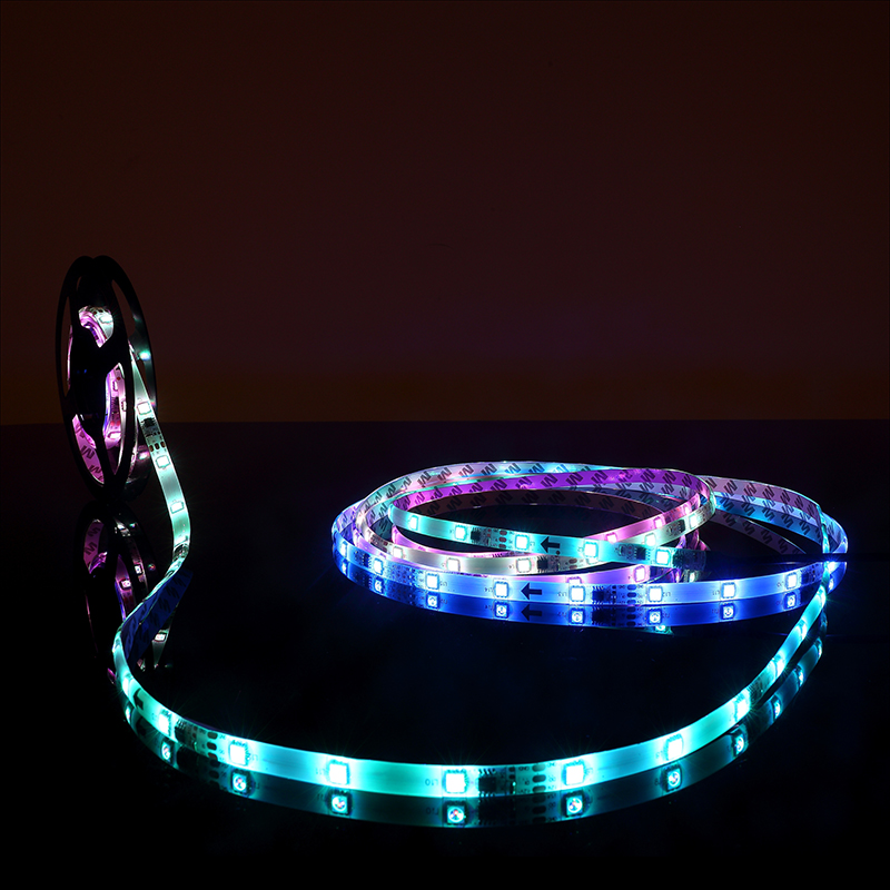 [MingBen] 5M LED Strip Smart Auto Changeable RGB DC 12V SMD 5050 Full Color Pixel IC Digital Individually Addressable Tape Light addressable 3d smart pixel ball dc24v