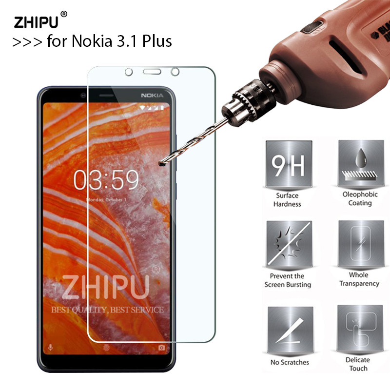 Tempered Glass For Nokia 3.1 Plus Glass Display screen Protector 2.5D 9H Premium Tempered Glass For Nokia 3.1 Plus Protecting Movie