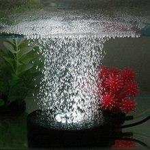 12led аквариумный аквариум круглый светильник ночного видения воздушный занавес пузырьковый камень Воздушный диск погружной пруд гидропоники кислород
