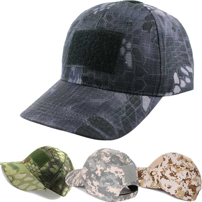 deefe0c2a28b4 3D Outdoor Sport beach cap Combat Tactical Caps Military hat Python Snake  Skin Caps Camouflage Visors Sun Hat