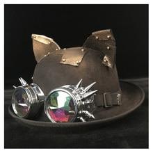 Женская шляпа котелок в стиле стимпанк, ретро, Lolita, накладная шестерня, топ, шляпа «Fedora», головной убор, кошечка, шляпа для жениха