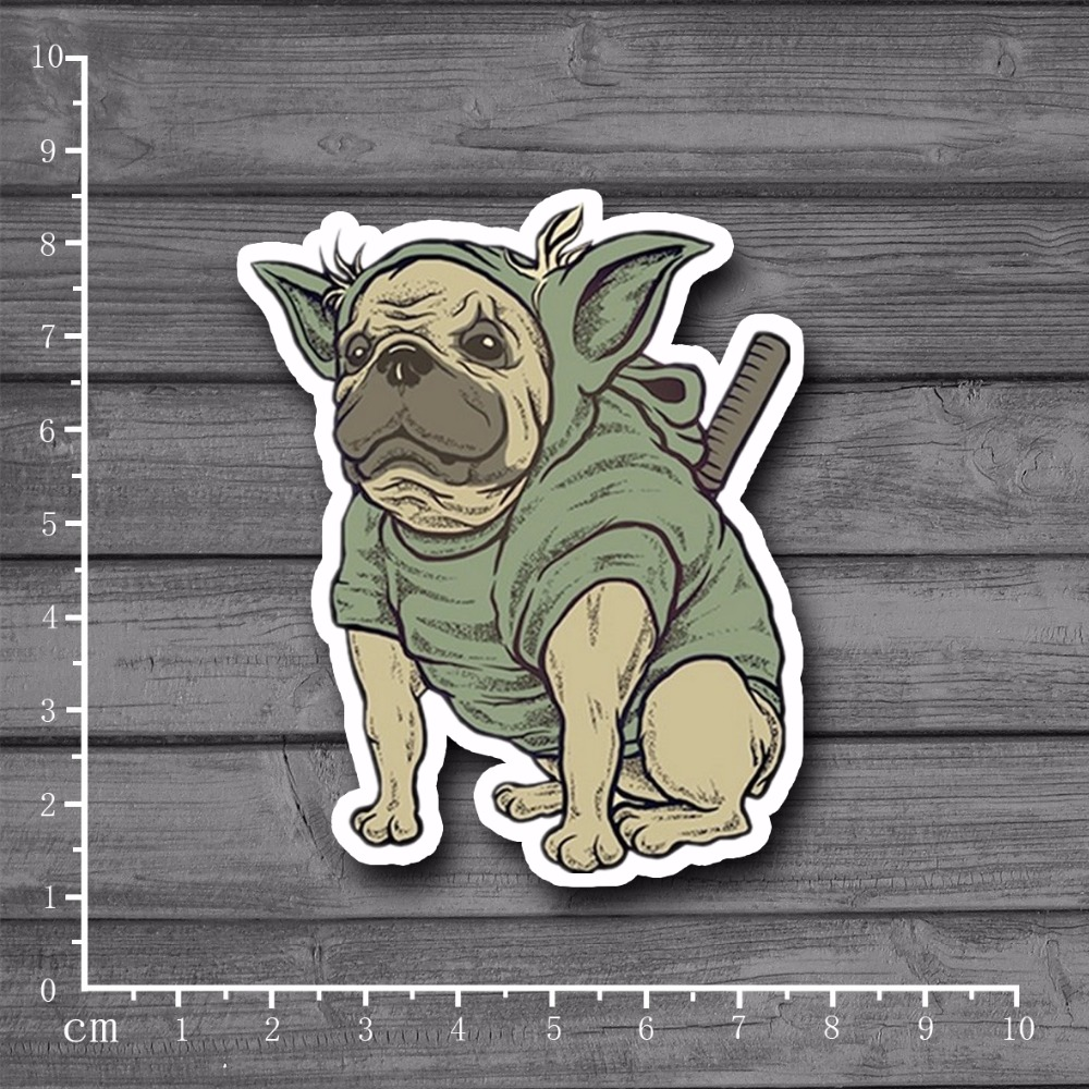 Wearing a sweater dog On Laptop Notebook Skin Stickers Snowboard Luggag Decal For kid Toy Suitcase Stationery Stickers[single]