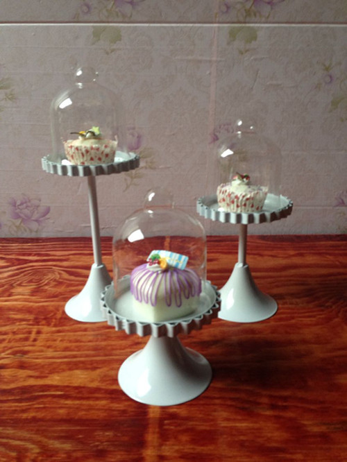 New Year Party Cupcake Stand With Glass Dome Cupcake Pan