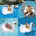 Piscina Inflável Float Float Raft Barco Cisne Branco de Verão lago Salão Gigante Rideable para Adulto Criança Anel Bebê Água brinquedo