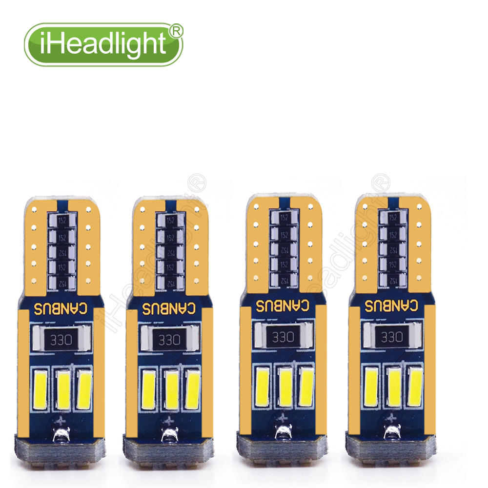 4PCS T10 4014 9smd 12v Car Turn Signal License Plate Light car dome reading light Bulb White Led width light W5W 194 168 Wedge