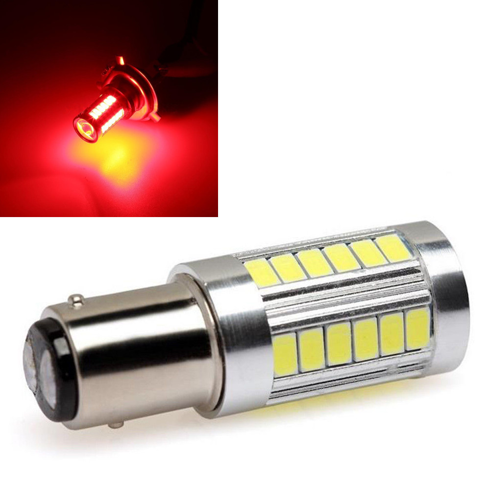 Red BAY15D 1157 P21/W 1142 Car Rear Brake Light 5730 33-SMD 33SMD LED Fog Bulb Lamp DC12V