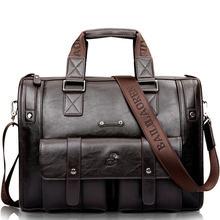 Мужской кожаный черный портфель, деловая сумка, сумки-мессенджеры, Мужская винтажная сумка на плечо, мужские большие дорожные сумки для ноу...
