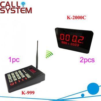 Patient Queuing Calling System for Hospital/Clinie K-999 numeric keyboard with 2pcs 4-digit display