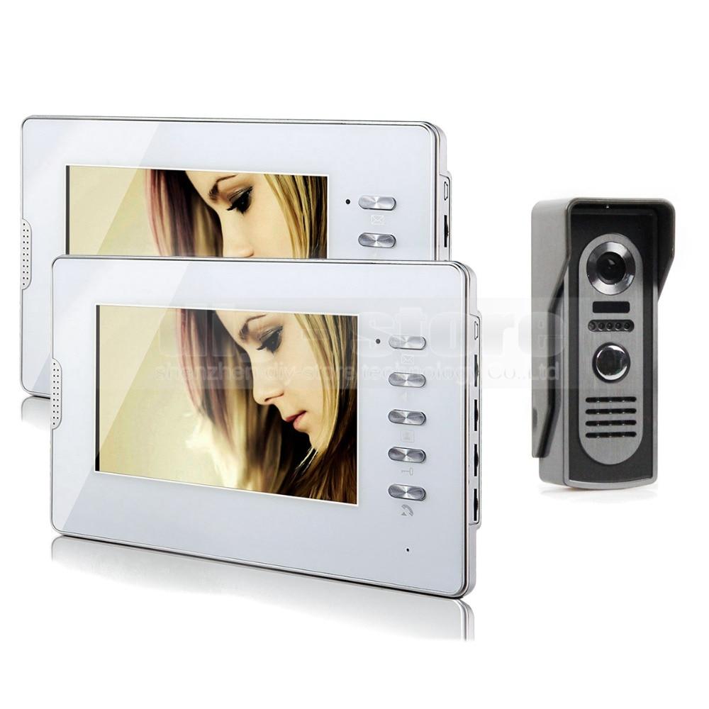 DIYSECUR Hardwired 7 LCD Video Doorbell Door Phone Intercom System Home Entry Security