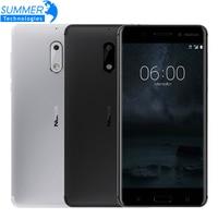 2017 Original Nokia 6 Mobile Phone 4G LTE Dual SIM Qualcomm Octa Core 5 5 Fingerprint
