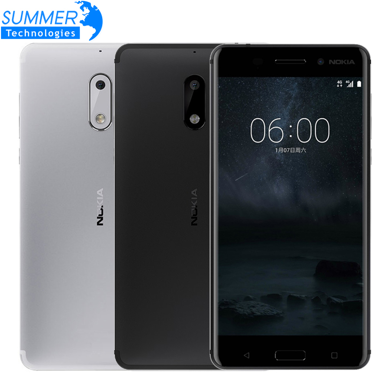 2017 Original Nokia 6 LTE Smart Phone 4G RAM 32G ROM Octa Core Dual Card Fingerprint