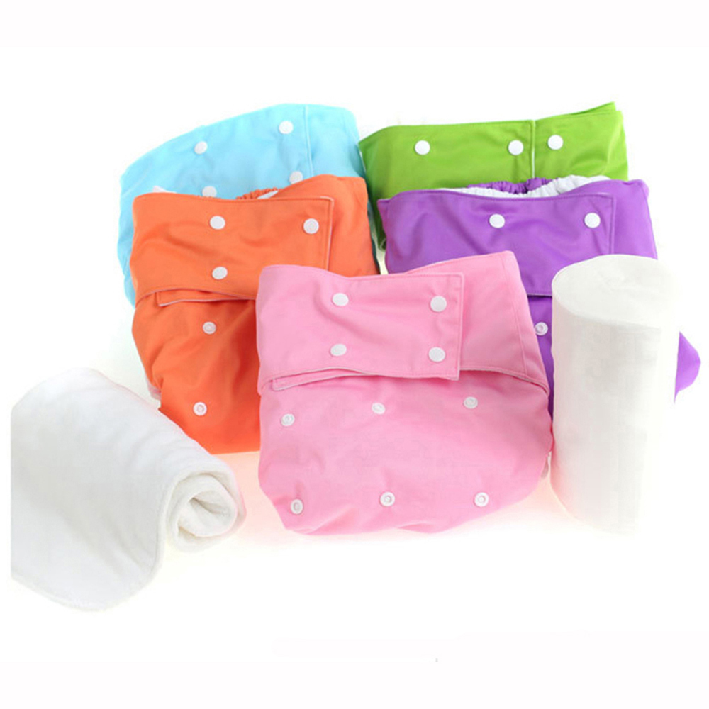 5 Sets PUL Waterproof Washable Reusable Cloth Diaper Cover ...