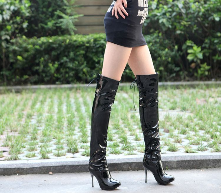 Compare Prices on Black Patent Boots- Online Shopping/Buy Low