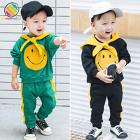 Lemonmiyu Toddler Girl Boy Clothes Full Sleeve Casual Cartoon Jumpsuits For 1 4T Cotton Active Childrens Sets Kids Clothes
