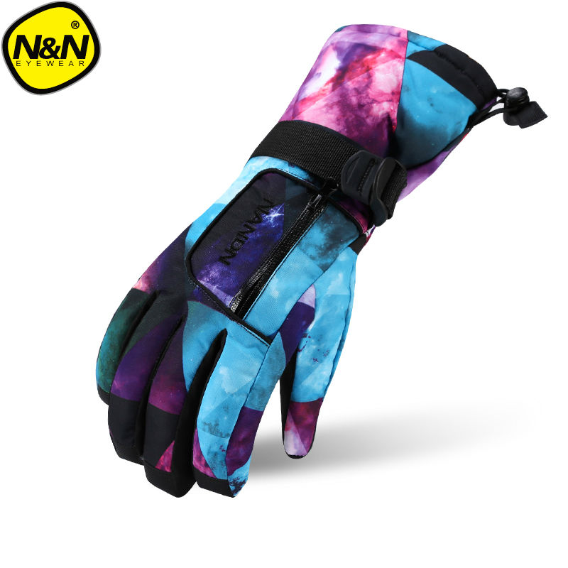 NANDN  Ski Gloves Snowboard Gloves Snowmobile Motorcycle Winter Skiing Riding Climbing Waterproof Snow Gloves