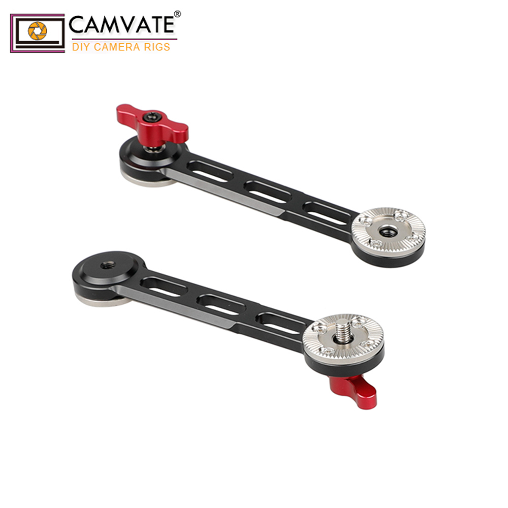 CAMVATE Nato Rail Rosette Extension Arm Red Thumbscrew 2 Pack C1684 camera photography accessories