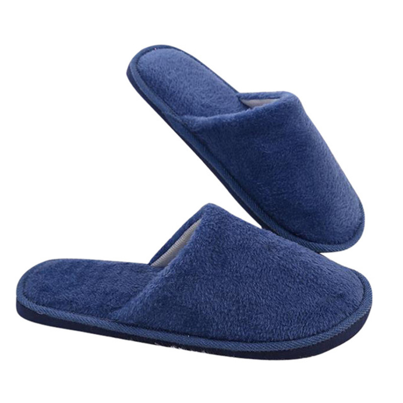 2019 Winter Fashion Candy Color Men Slippers Fleece Lovers House Shoes Women Home Floor Slippers Warm Soft Flats Indoor Shoes