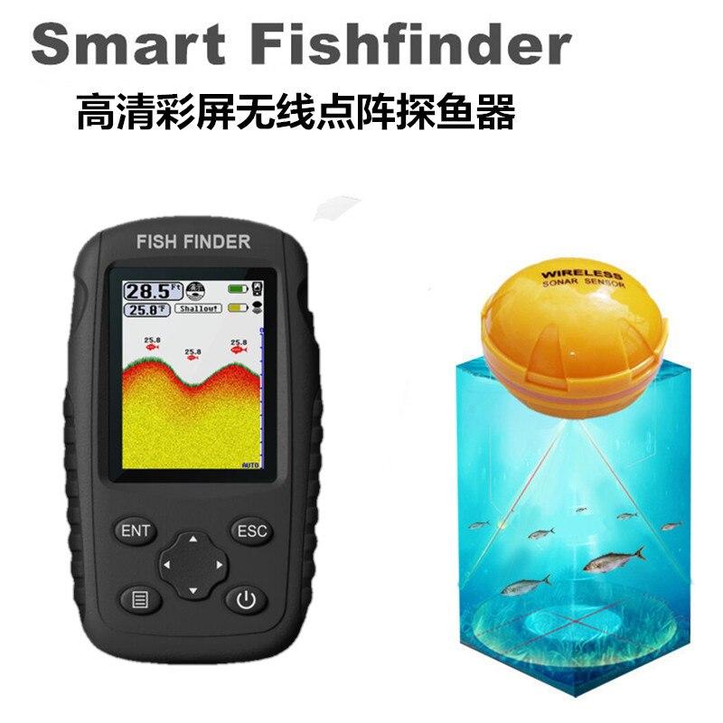 FFW718 lokalizator ryb Upgrade FF998 rosyjski menu akumulator wodoodporny bezprzewodowy czujnik echosonda 125kHz Sonar echosonda