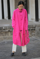 ARANSUE 2019 Spring Summer Blouse long design linen shirts Bone Flax Collar Button Long Shirt blusas Rosy Blacke camisas mujer