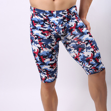 2017 Summer Style  Camouflage Print Men Sexy Fitness Pijamas Gay Male Skinny Home Pajama Bottoms/Lounge Pants Size S M L