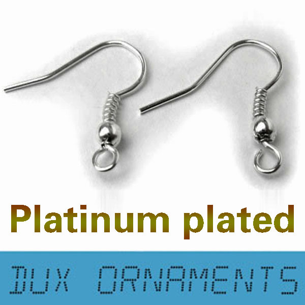 Wholesale Jewelry Findings Surgical Stainless steel covered Silver plated Earring Hooks Nickel Free 20mm gd003 stainless steel car hanging hooks silver 2 pcs
