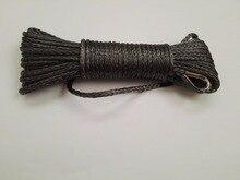 Gris 5mm * 15 m Cuerda Sintética Del Torno, Kevlar Cable Del Cabrestante, Cuerda Sintética, Barco Cabrestante, Cuerda de remolque Del Coche
