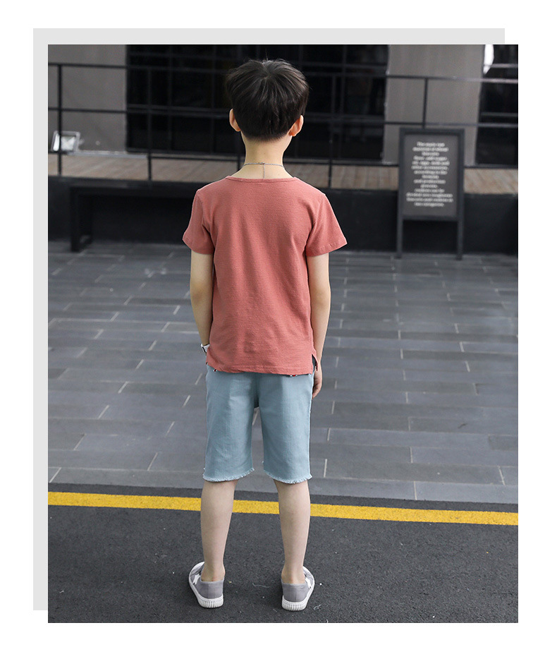 Boys Casual Clothes 2018 Kids Boys Clothing Set Summer 3 To 15 Years Short Sleeve T Shirt+Casual Shorts Children 2PCS Set Suit
