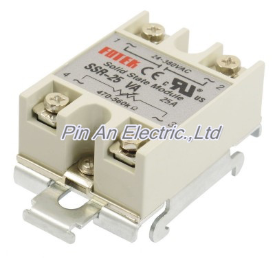 SSR 25A Single Phase Resistance Type Adjustable Solid State Relay DIN Rail Mount ssr 40da single phase solid state relay white silver