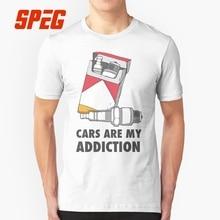 956f5e0697 Projeto engraçado Camiseta Carros são O Meu Vício Motorista Adolescente  100% Algodão de Manga Curta T-Shirt Feito Sob Encomenda .