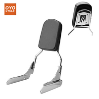 For 98 07 Honda Shadow VLX 600 VLX600 Motorcycle Flame Rear Backrest Passenger Sissy Bar Leather Pad Chrome 1998 1999 2000 2007