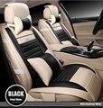 Para audi A1 A3 A4 A5 A6 A8 Q5 Q7 Q1 marca suave asiento de coche de cuero cubierta de asiento delantero y trasero asiento completo impermeable de fácil limpieza cubre