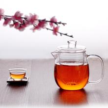 High Borosilicate Glass Transparent Infuser Tea Pot Handmade Heat Resistant Strainer Handle Teapot Kongfu Flower Kettle