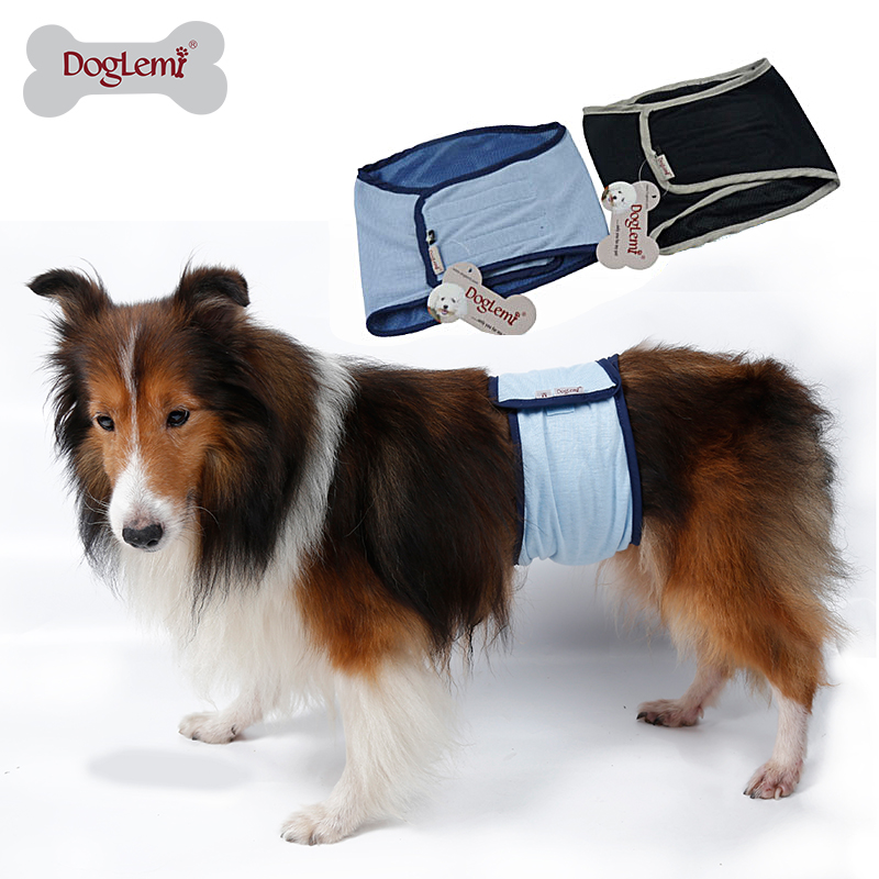 DogLemi Cotton Sleepable Dog Male Lampin Sanitary Male Dog Protector Lampin Pant for Dogs and Cats