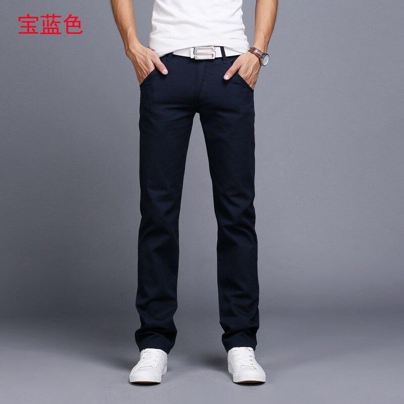 HTB1CWLKayfrK1RjSspbq6A4pFXaI TANGYAXUAN New Design Casual Men pants Cotton Slim Pant Straight Trousers Fashion Business Solid Khaki Black Pants Men 28-38