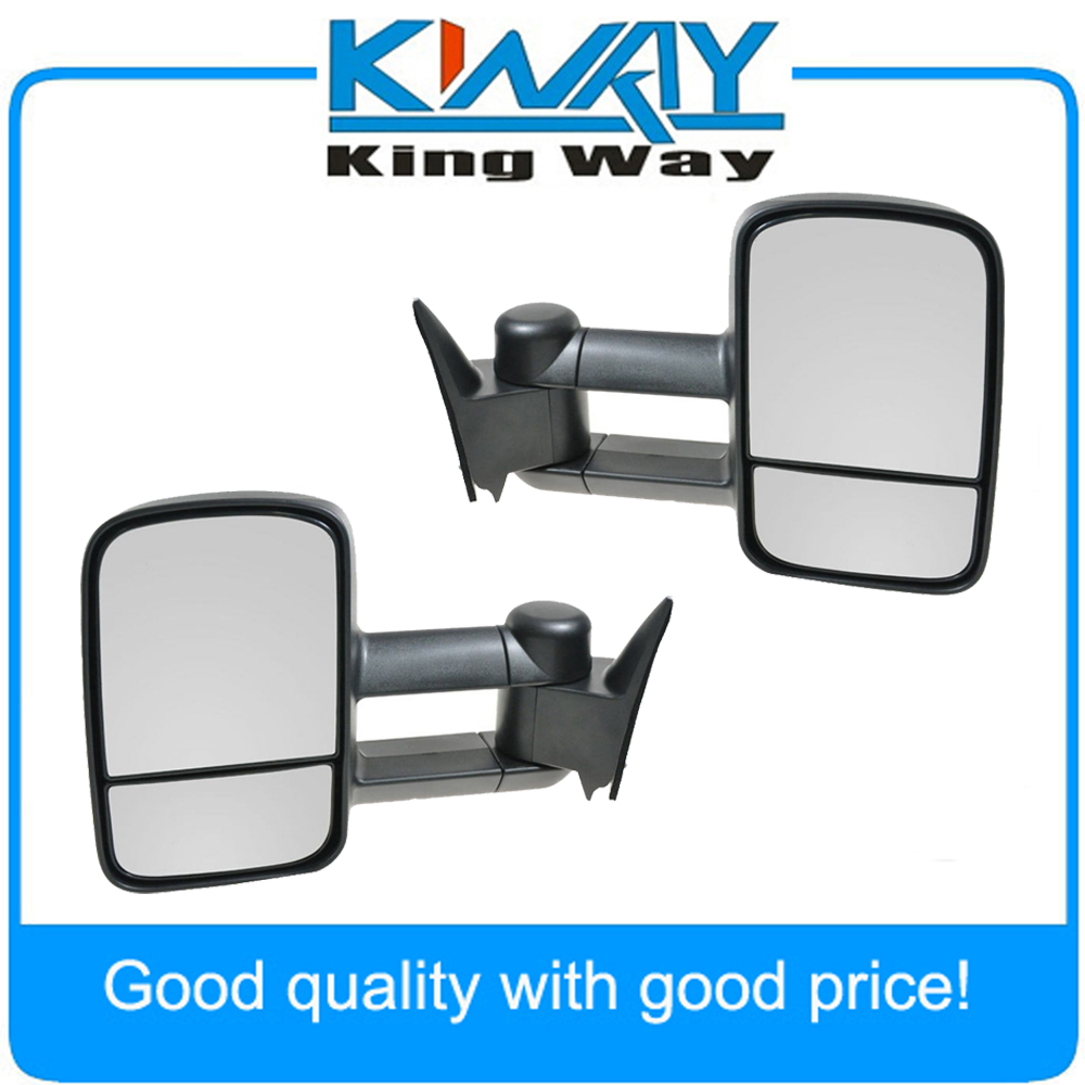 Towing manual side view mirrors left right pair set for 1988 1998 chevy gmc truck