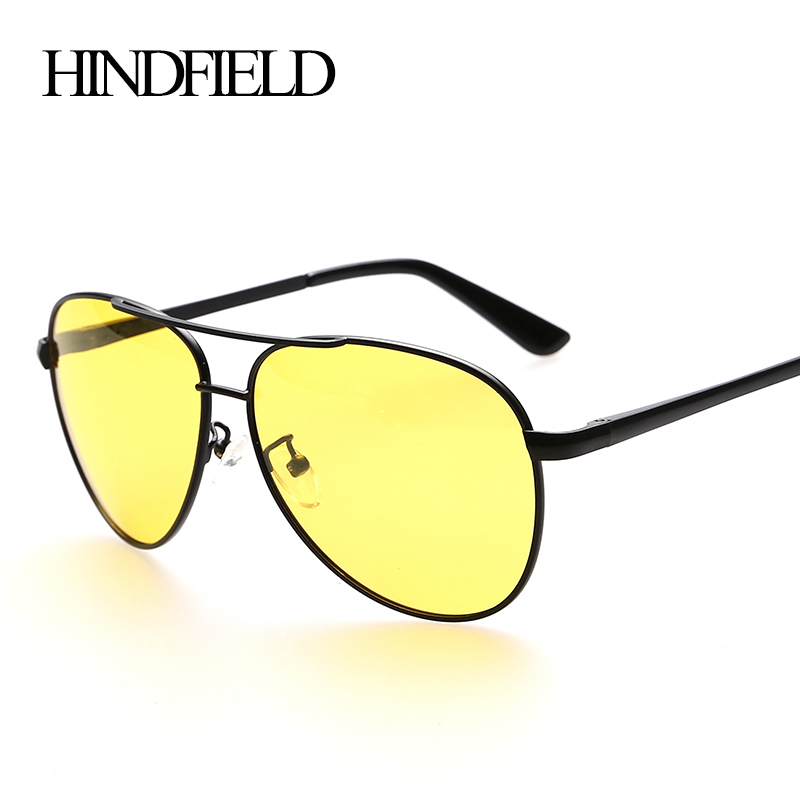 HINDFIELD Night Vision Goggle SunGlasses UV400 Polarized Night Driving Glasses For Men Driver Anti-Glare Glasses Sport Eyewear