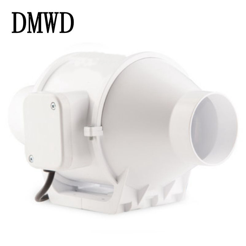 DMWD Electric Exhaust Fan 3 inch mini Round pipe Ventilation Fans 3 Bathroom Kitchen Toilet booster 2 two speeds Mute exhauster