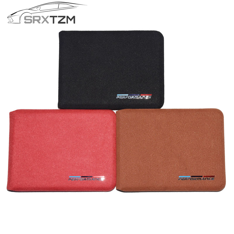 Creative Srxtzm 1pcs New Car Driver License Cover Bag Car Driving Documents Suede Auto Card Credit Holder Purse Wallet Case For Bmw Style Top Watermelons Interior Accessories Key Case For Car