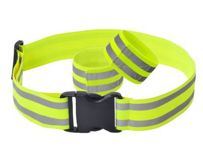 Riding Night Run 5CM Wide Adjustable Stretch Elastic Reflective Safety Belt Can Be Customized Logo Wholesale