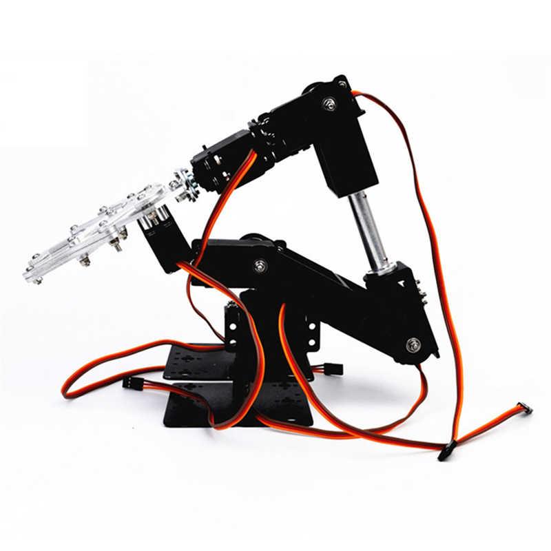 Pequeno martelo diy 6dof metal rc robô braço kit & mg996 servos