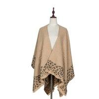 ファッションヒョウカシミアスクエアスカーフ女性暖かいパシュミナショールとラップ毛布スカーフ卸売冬のスカー