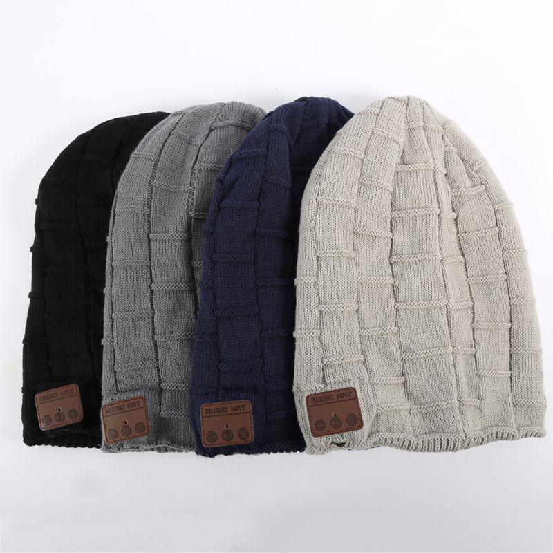 Winter Warm Wool Beanie Hat Wireless Bluetooth Smart Cap Headset Headphone Speaker Mic practical outdoor sports bluetooth headphones speaker mic winter warm knitted beanie hat