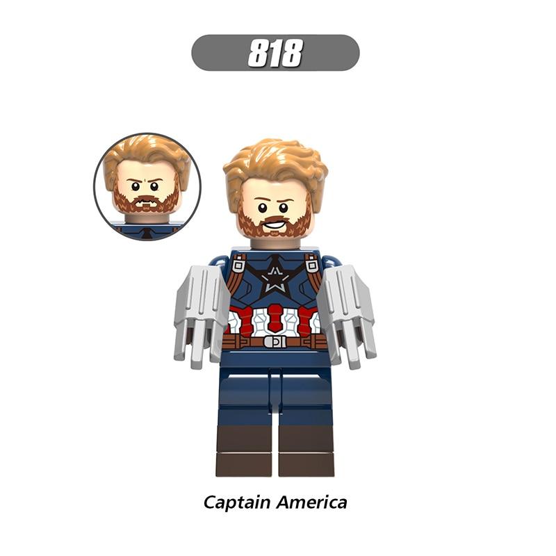 Single Sale LegoINGlys Enlighten Avengers 3  Figures Captain America Soliders Bricks Learning For Children Gift Toys X0186