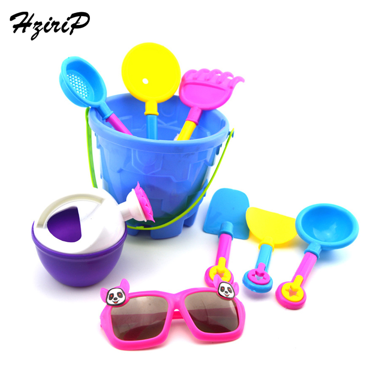 HziriP 9 PCSSets Castle Bucket Baby Playing Sand Toys Summer Beach Funny Children's Educational Cute Toys For The Kids Hot Sale