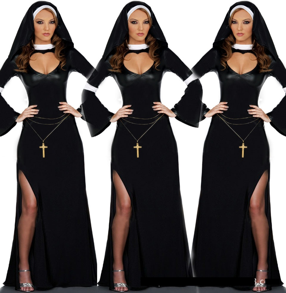 Sexy Black Nun Missionary Costume Halloween Adult Cosplay Dress Fancy Dress 358-in Sexy Costumes from Novelty u0026 Special Use on Aliexpress.com | Alibaba ...  sc 1 st  AliExpress.com & Sexy Black Nun Missionary Costume Halloween Adult Cosplay Dress ...